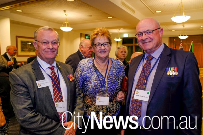 Terry O'Brien with Carol and Philip Bryne
