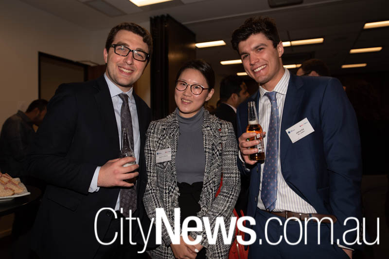 Anthony Gattas, Daphne Wang and Joshua Vuk