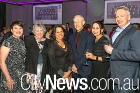 Ros Parisi, Helen Lyons, Karen Aldons, Christopher and Rochelle Thorne and John Volpato