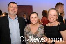 Barry Weatherburn, Kelise Williams and Carmel Weatherburn