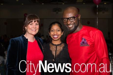 Ingrid Elvy, Ahalya Krishinan and Kofi Osei Bonsu