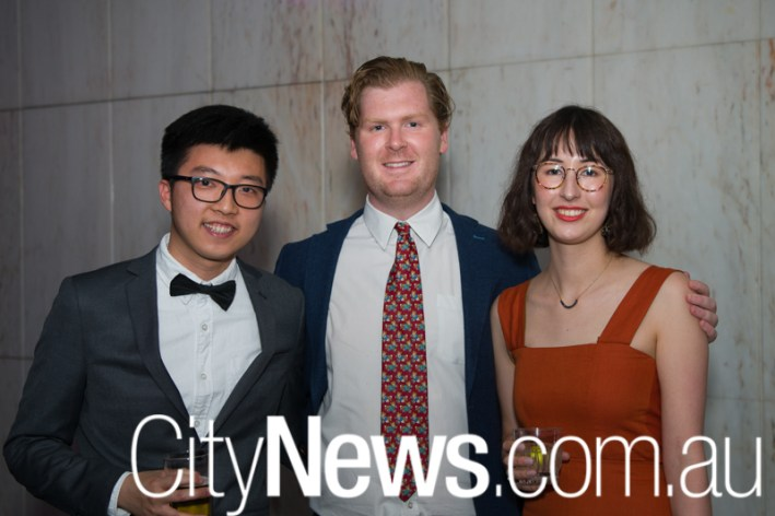 Tommy Choi, Jesse Ruse and Emily Etchell