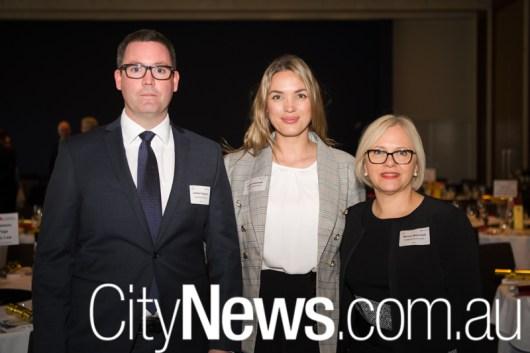 Lachlan Fitzpatrick, Aretta Grebowski and Monica Muschialli