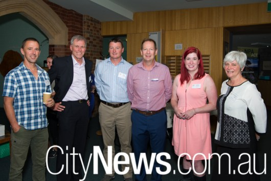 Peter Cotsell, Rod Griffiths, Tim Chaseling, Ian Walker, MLA Tara Cheyne and Cynthia Burton