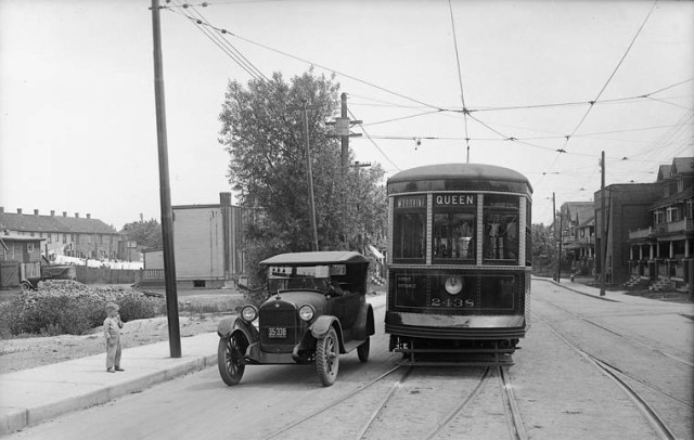 You, driving past the streetcar you used to take to work. Credit: Wikimedia