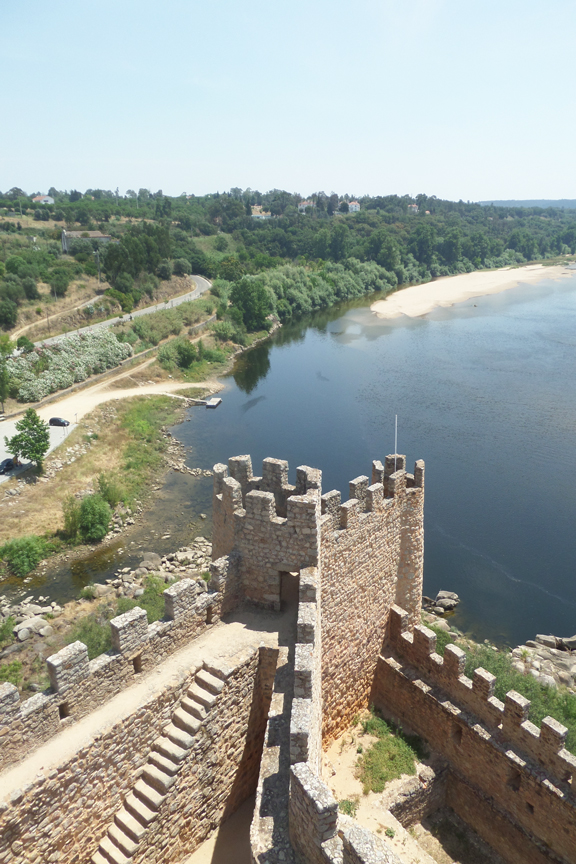 top view castle of almourol