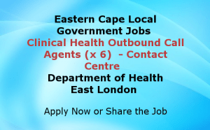 Outbound Call Agents Contact Centre Eastern Cape Government Jobs