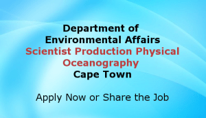 Scientist Production Physical Oceanography Cape Town Jobs