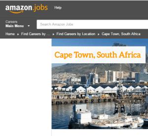 amazon jobs city of cape town vacancies