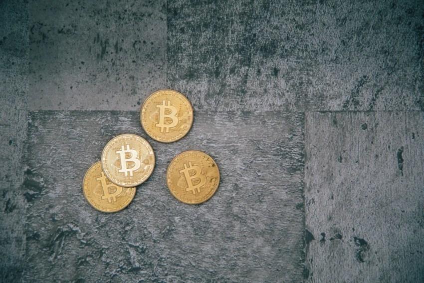 恐ろしげなビットコインの画像