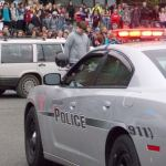 Hoquiam Police Cruiser at Hoquiam HS Assembly