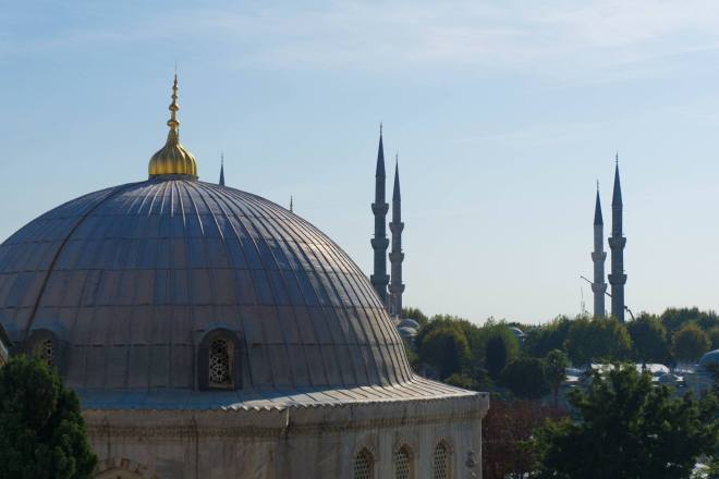 The view from Hagia Sophia