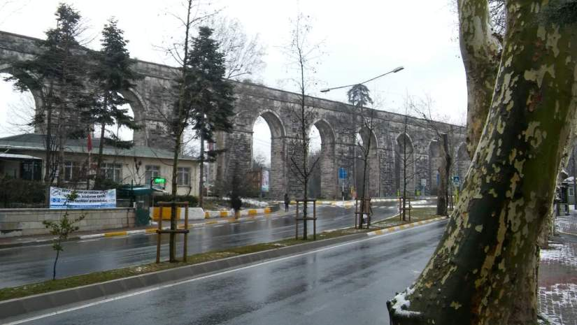 Aqueduct of Bahcekoy, Istanbul - 2017-01-28