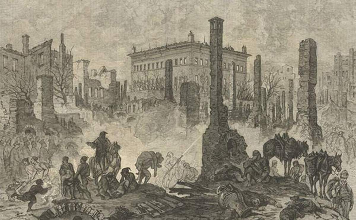 1870 - Great Fire of Pera (illustration)