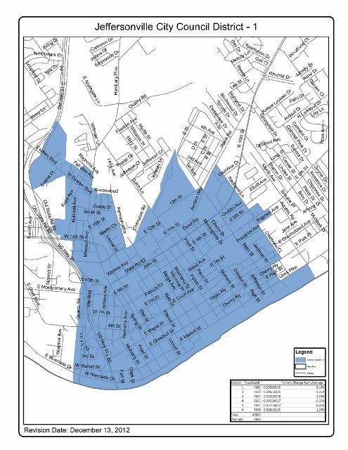 City of Jeffersonville District 1 Map
