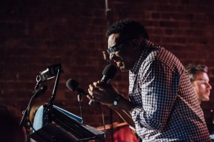 Cleveland Watkiss sang the parts of Miles Davis Photo: James Berry