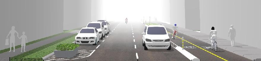Sketch of proposed bikeway