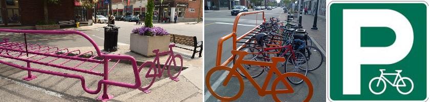 Photo of bike parking corrals