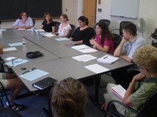 Bartlett 316. A meeting of faculty and graduate students