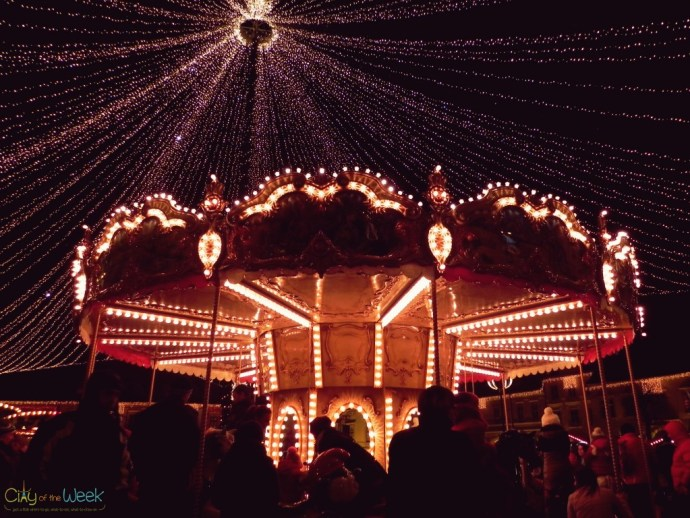 Merry-go-round at the Sibiu Christmas Market