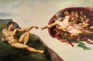 La Creazione dell'Uomo - image via allfamousartists.com