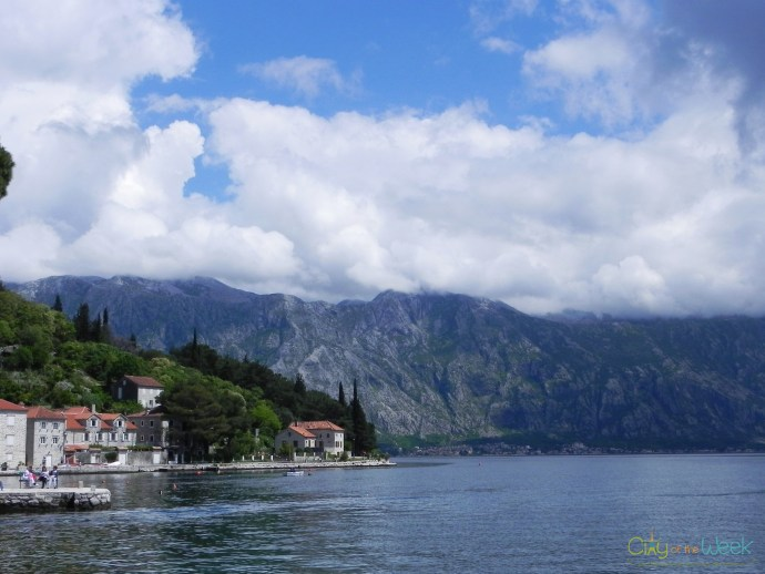 Islands of Perast: leaving Our Lady of the Rocks