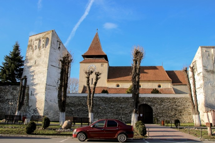 Ghimbav Fortified Saxon Church Brasov Romania