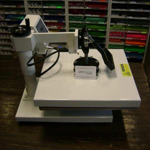 Hittepers transferpers warmtepers drukpers Zwenkarm 38 x 38 swing heatpress Wit White Cityplotter Zaandam
