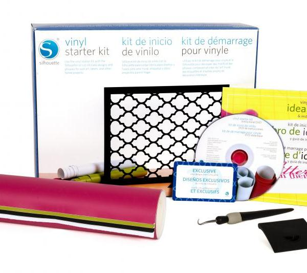 Silhouette starterset Vinyl stickers starter kit vinyl sticker KIT-VINYL-3T 814792011843 Cityplotter Zaandam