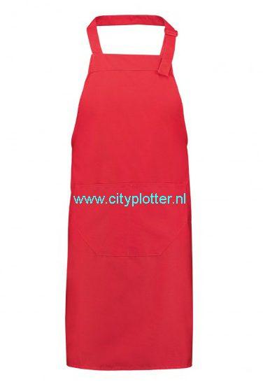 Schort schorten zwart, rood of wit om zelf te bedrukken zeer goede kwaliteit apron black, red or white Cityplotter Zaandam