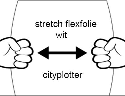 Flexfolie speciaal stretch zwart wit groen geel blauw rood goud zilver magenta black white green yellow blue red cityplotter Zaandam