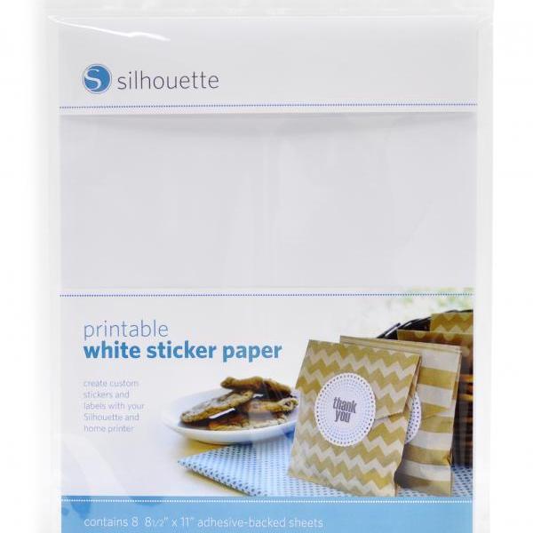 Silhouette printbaar printbare witte stickervellen printable adhesive sticker white foil paper MEDIA-WHT-ADH-3T 814792012277 Cityplotter Zaandam