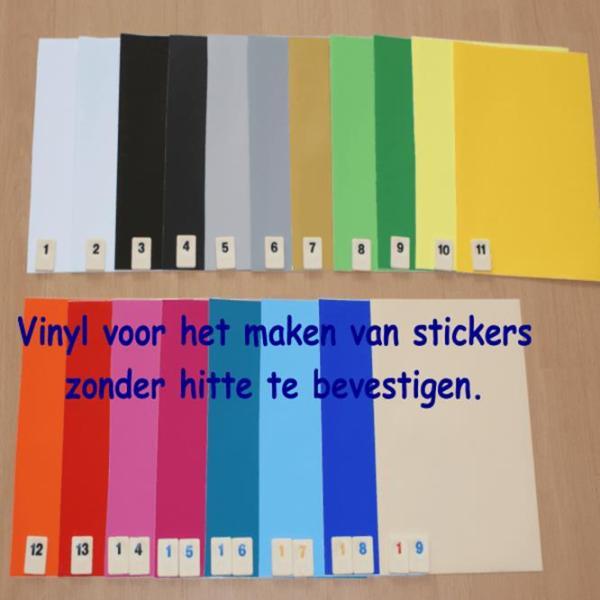 Vinylfolie Vinyl Folie Folies Mat Matt Effen Kleuren 305mm breed Cityplotter Zaandam