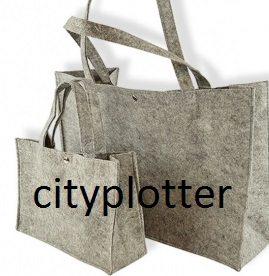 vilt shopper groot klein grijs cityplotter zaandam