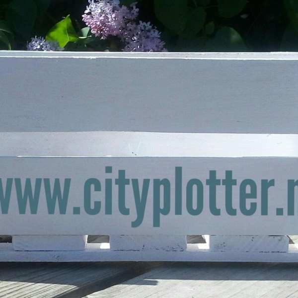 kistje wit cityplotter zaandam