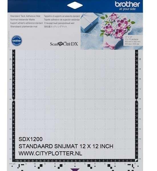 BROTHER SDX1200 Scanncut Standaard plakkende mat snijmat Standard Tack Adhesive Mat 305mm x 305mm 12 x 12 inch CADXMATSTD12 4977766794473 CITYPLOTTER Zaandam