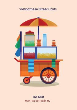 Xe mứt (Desserts cart) - They sell sweets and dried fruits.