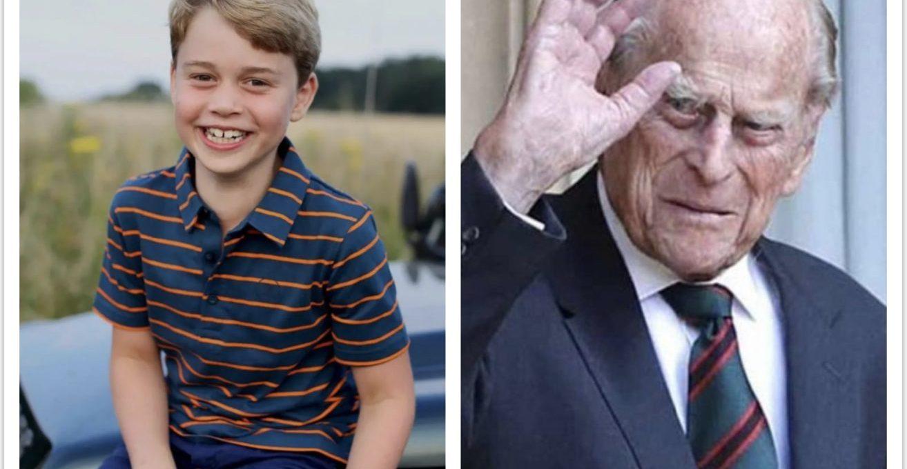 il-principe-george-compie-8-anni,-omaggio-di-william-e-kate-a-filippo-nella-foto-di-compleanno