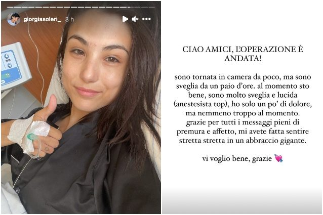 """giorgia-soleri-dopo-l'operazione-per-endometriosi:-""""sto-bene,-solo-un-po'-di-dolore"""""""
