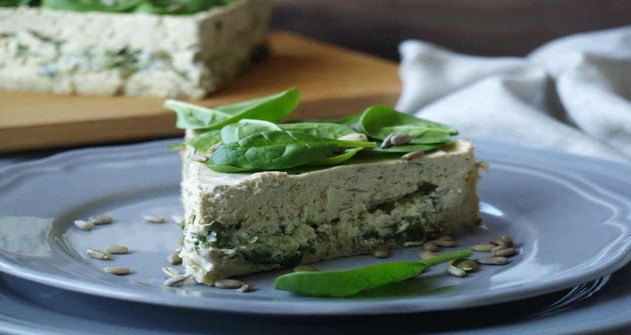 cheesecake-salata-di-ricotta-con-spinaci-pinoli- -buonissima
