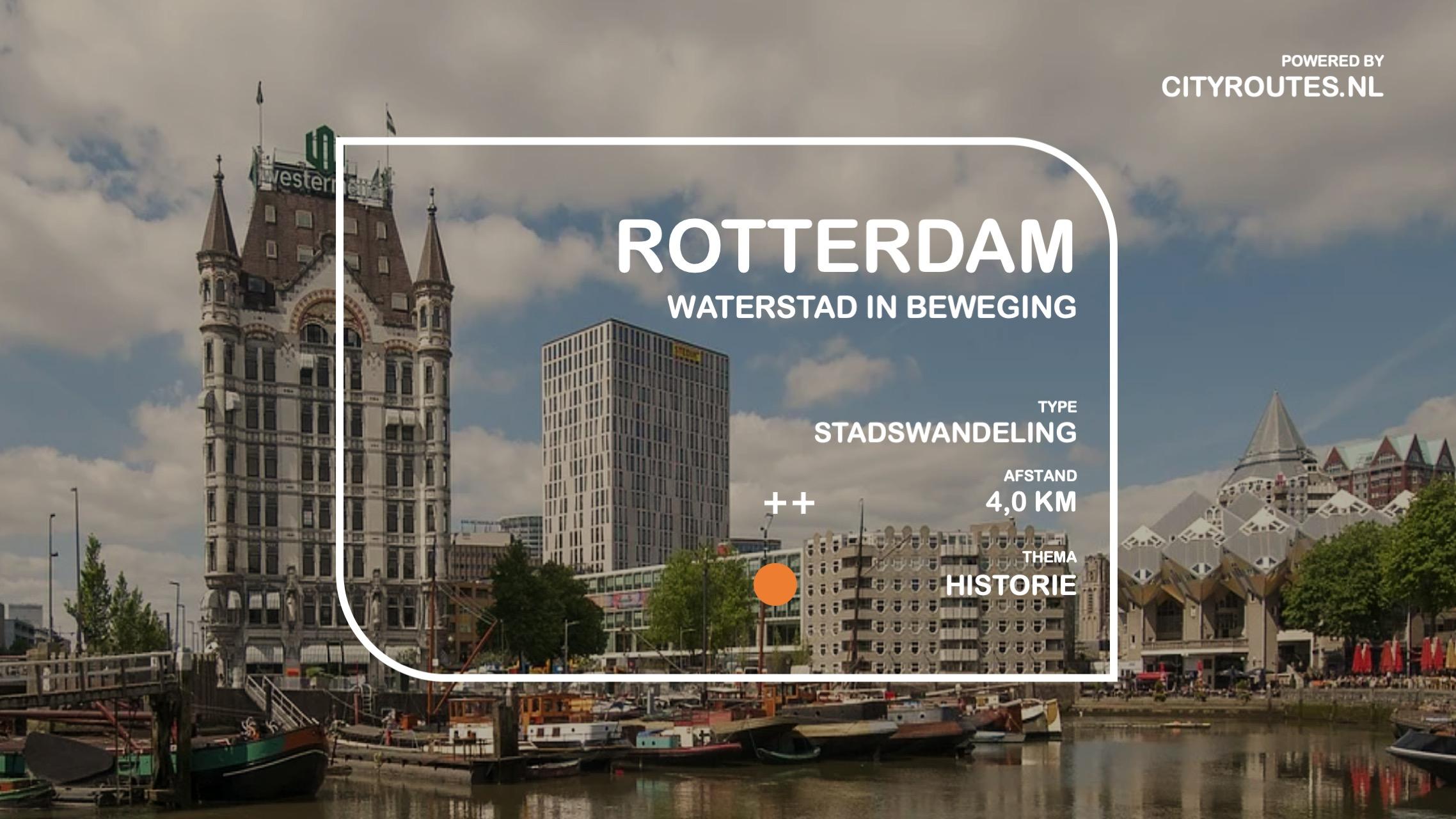 Gratis stadswandeling Rotterdam