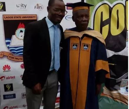 80-year old man bags Msc degree form Lagos State University