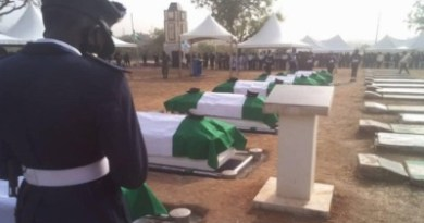 Bodies of seven NAF personnel who died in Abuja crash laid to rest