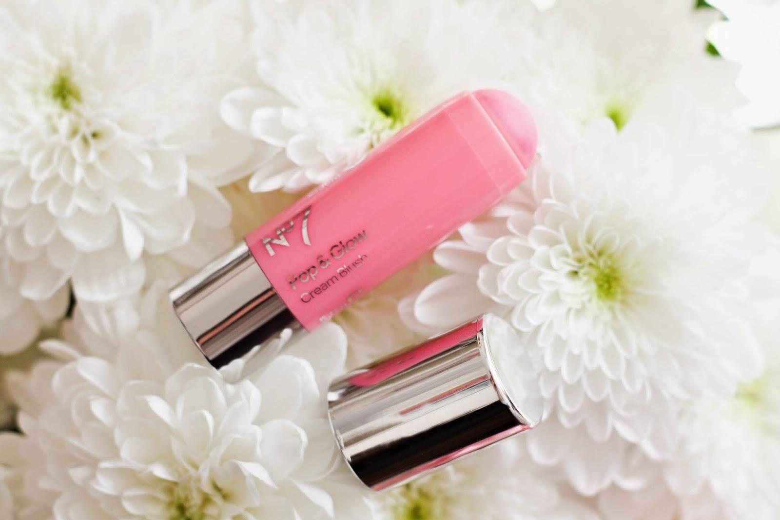 No7 Cream blush stick in Rose Blossom