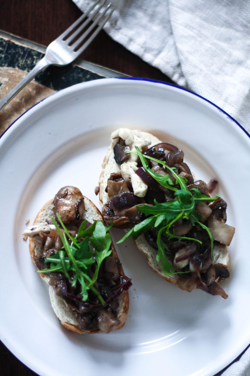 The best mushroom melt on toast you've ever tried