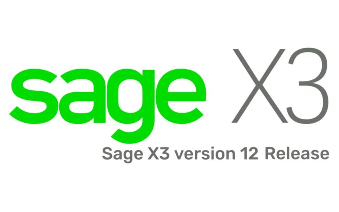 Sage X3 Version 12