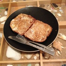 Makes 2 slices Whole Grain French Toast