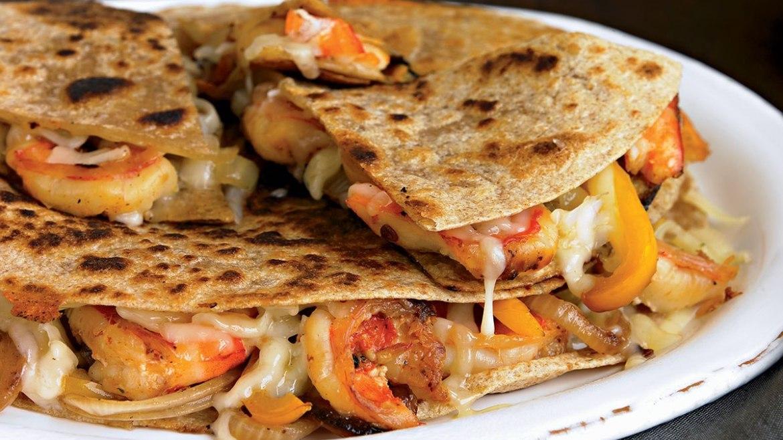 City Shrimp Loaded Quesadillas