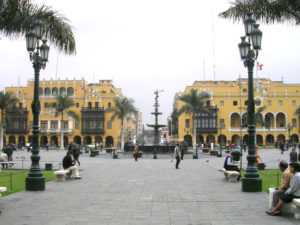 The historic center of Lima, location of the COP20 negotiations. Photo courtesy of Dozenist via Wikimedia Commons.