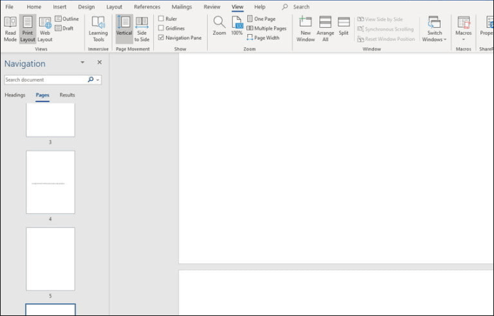 How to delete a page in word, Step by step 2